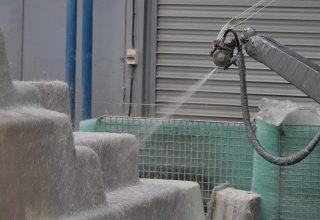 Piscine coque fabrication robotisée