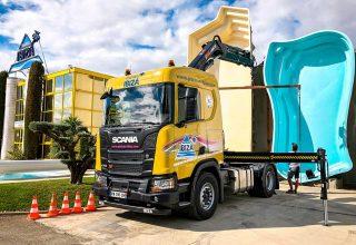 Nouvelle flotte de camions Piscines Ibiza