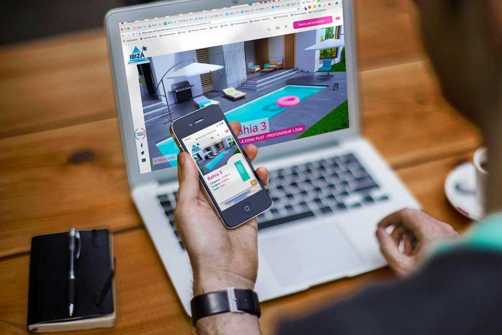 Présentation du nouveau site internet Piscines Ibiza
