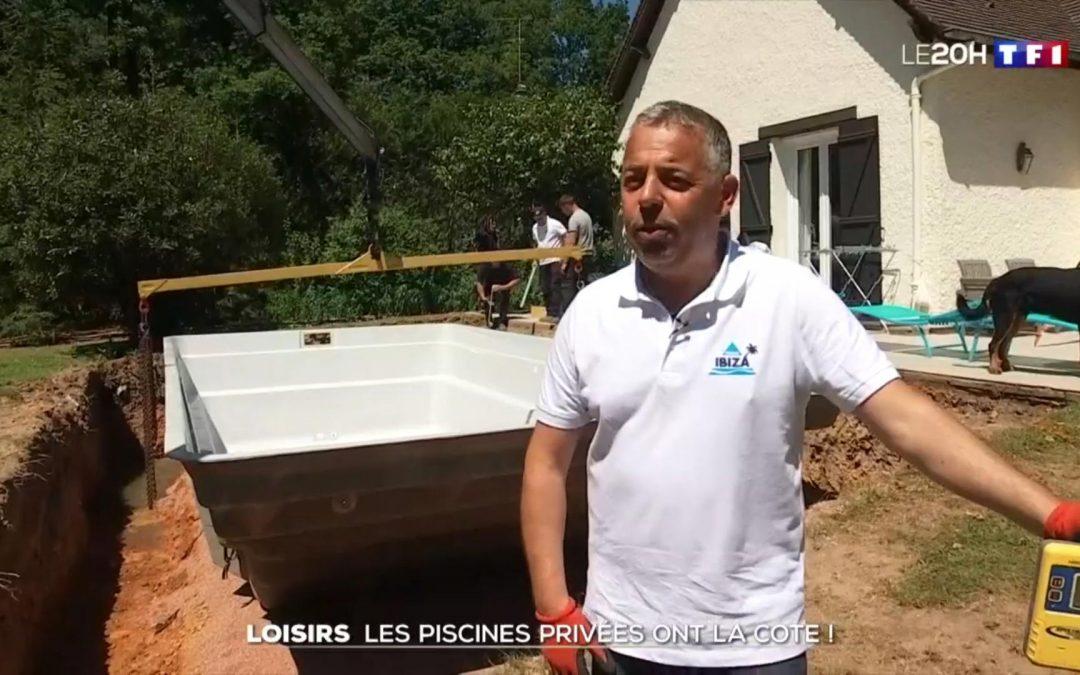 Piscines Ibiza dans le JT de 20h de TF1