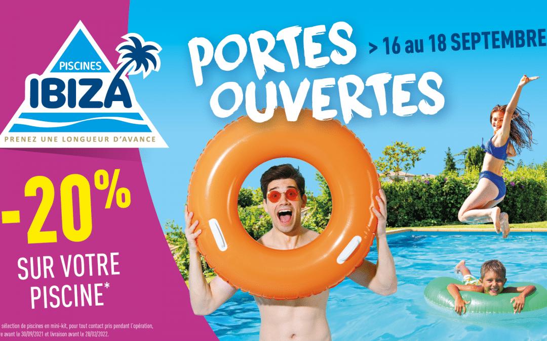 Portes Ouvertes Piscines Ibiza du 16 au 18 septembre 2021